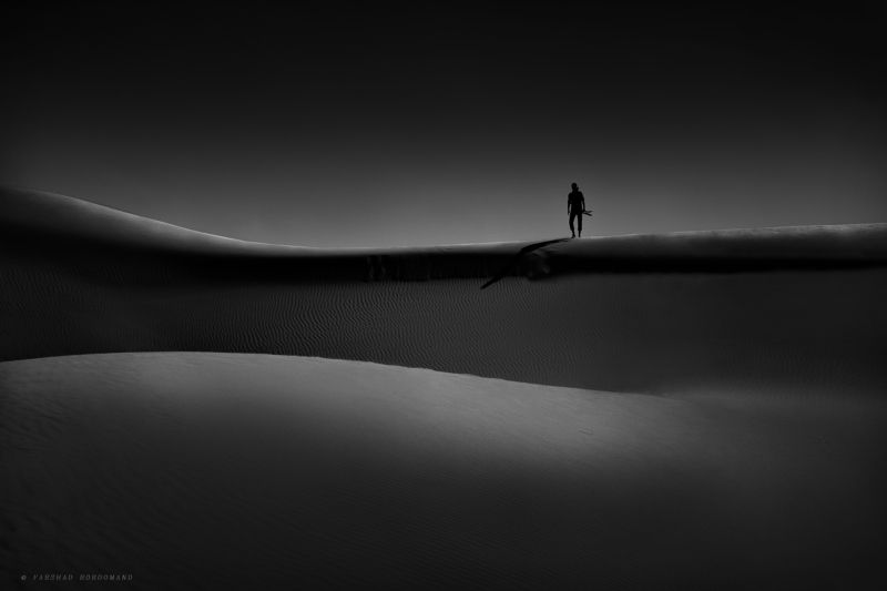 blackandwhite , fineart, light , contrast , iran , farshad, boroomand, mode , shadow Stand on the edge of lightphoto preview
