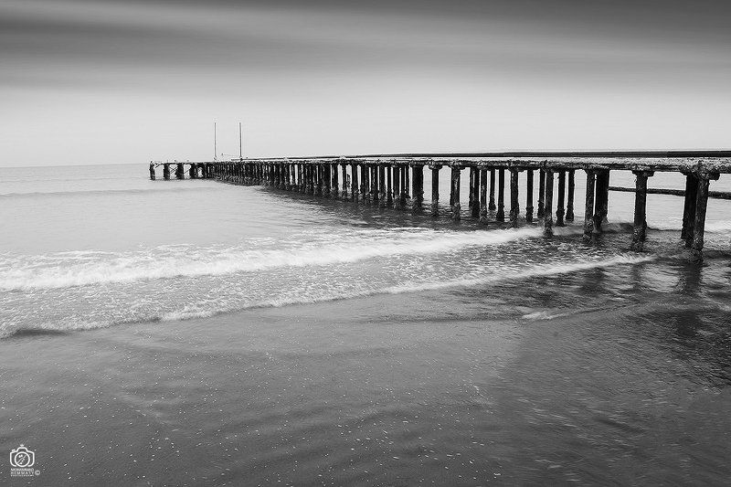 sea,nature,rock,water,calm,landscape,iran,dream,fog,abstract,canon,canon80d,canonphotography,blackandwhite,black,white,mphammadhemmaty,concept,pier,light,contrast,composition Old Pierphoto preview