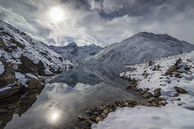 пейзаж, природа, Гималаи, горы, снег, озеро, Гокио, пик, треккинг, Непал, восхождение Озеро Гокио и Пик Гокио.photo preview