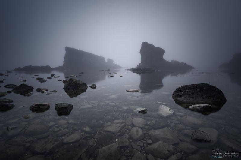 fog, sea, The Ships, Bulgaria Foggy morningphoto preview