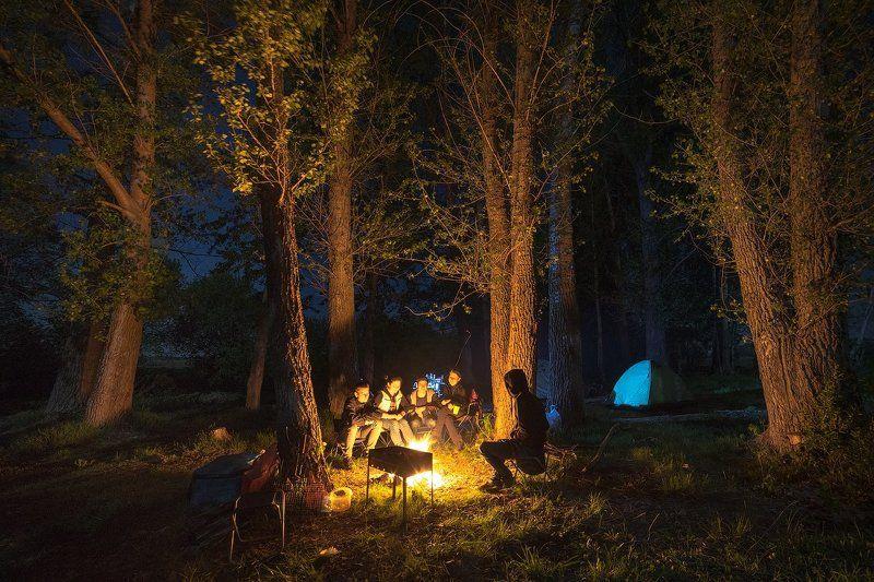 костер, огонь, ночь Ночью у костраphoto preview