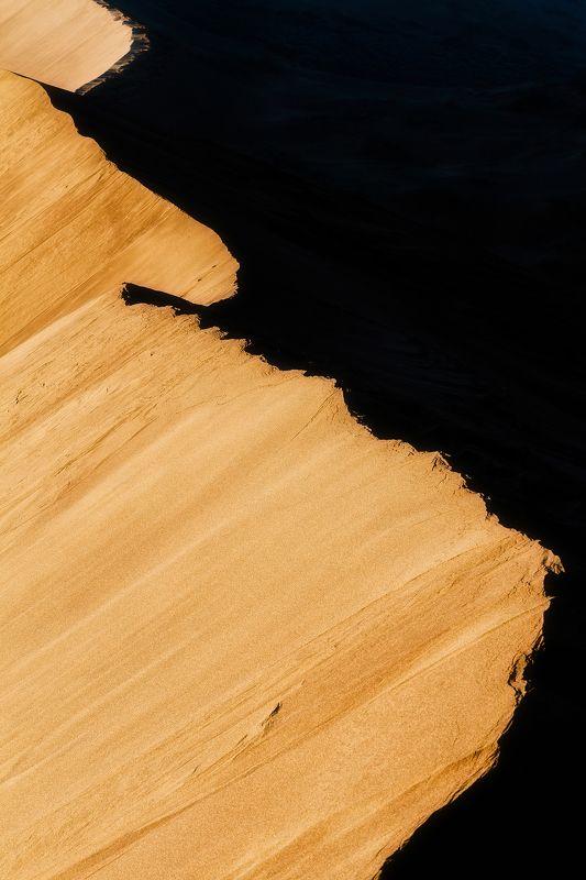 песок, бархан, казахстан, дюна, рассвет, светотень Игра света и тениphoto preview