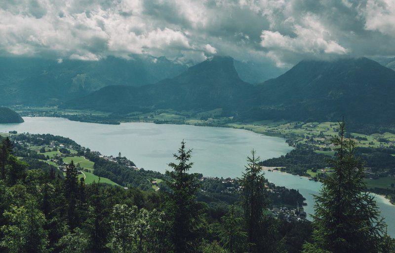 горы; лес; гроза; mondsee; лето; австрия; Надвигалась летняя грозаphoto preview