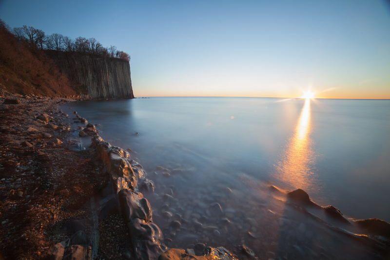 #скалакиселева, #закат, #море, #вода, #камни, #скала, #солнце, #чистоенебо Скала Киселеваphoto preview