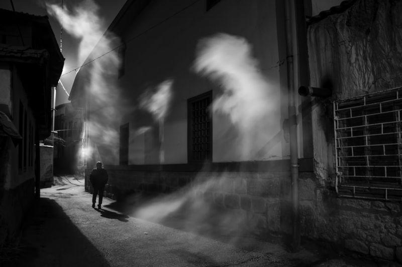 Street,night,human,black White Dumanphoto preview
