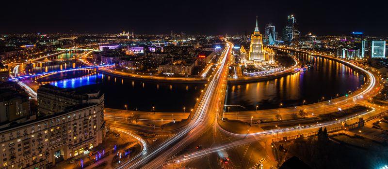 Панорама, час земли, город, ночной город, городской пейзаж, длинная выдержка, москва, россия Как на ладониphoto preview