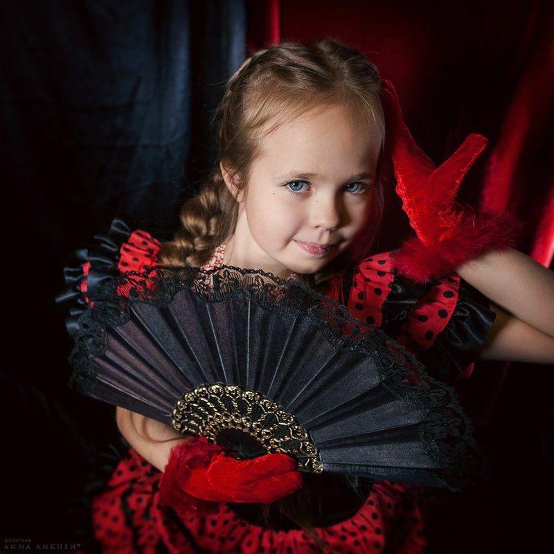фламенко, девочка, детский портрет, портрет, студия, girl, studio, child, portrait Фламенкоphoto preview