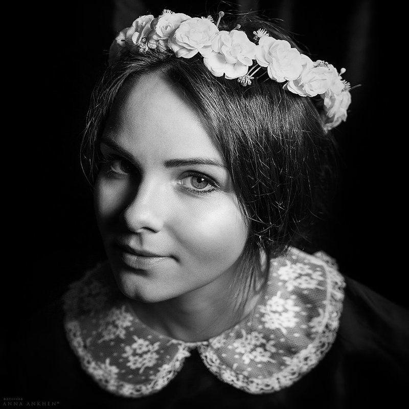 портрет, женский портрет, чб, студия, классика, девушка, bw, woman, studio, portrait, classic Сестра Алинаphoto preview