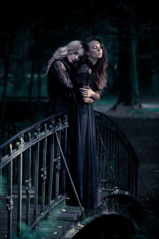 women, bridge, love, forest, emotions Bridgephoto preview