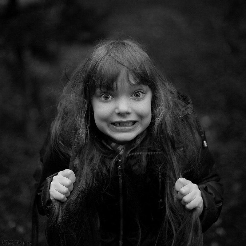 девочка, портрет, чб, фотография, детский портрет, ребёнок, bw, child, girl, portrait Дикаяphoto preview