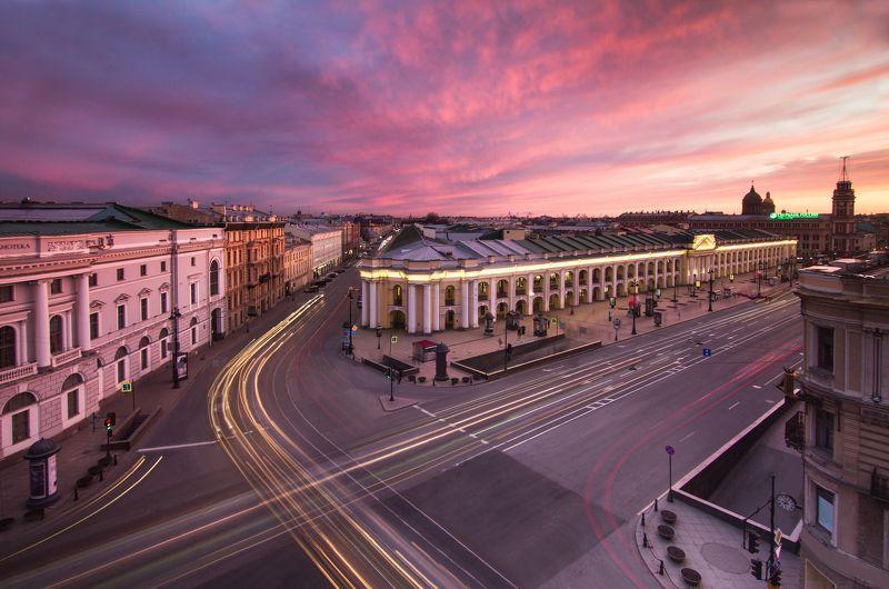 санкт-петербург, петербург, город, крыша, закат Санкт-Петербург, Гостиный дворphoto preview