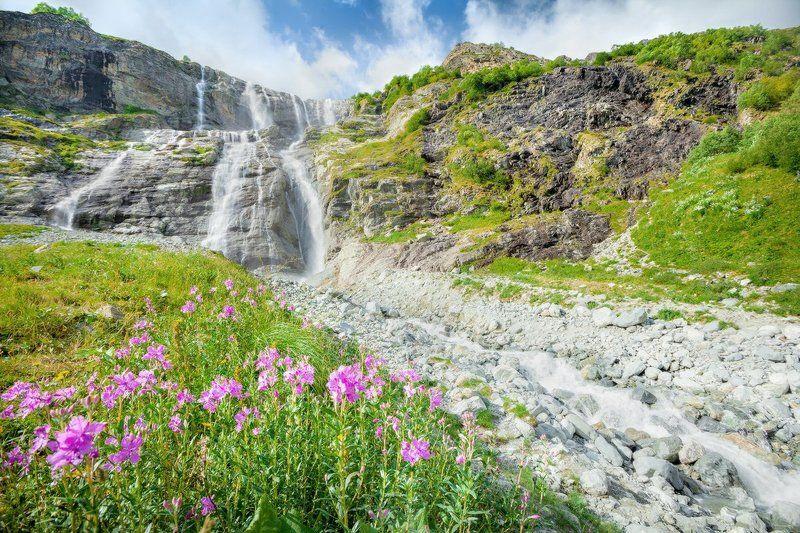 софия, архыз, карачаево-черкесия, кавказ Софийские водопадыphoto preview
