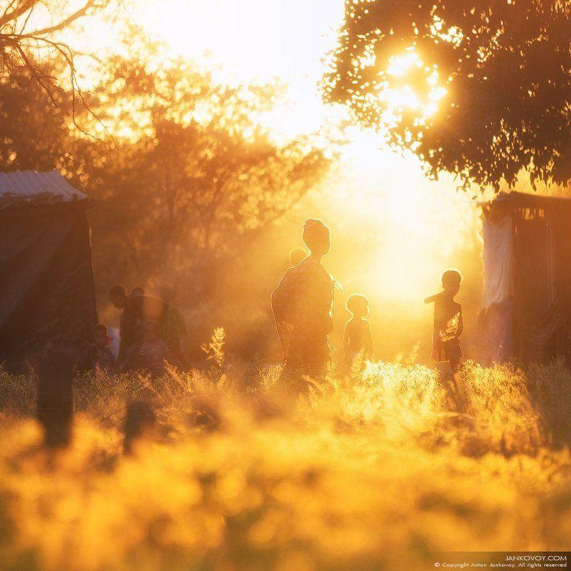бушмен, сан, намибия, африка, племя, деревня, вечер, закат,  сонква, масарва, басарва, куа, саан, свет, лучи, солнце, поле,   bushmen, saan, san, namibia, tribe, africa, tribe, evening, sunset, sun, ray, field, village SAN PEOPLE (деревня Бушменов)photo preview