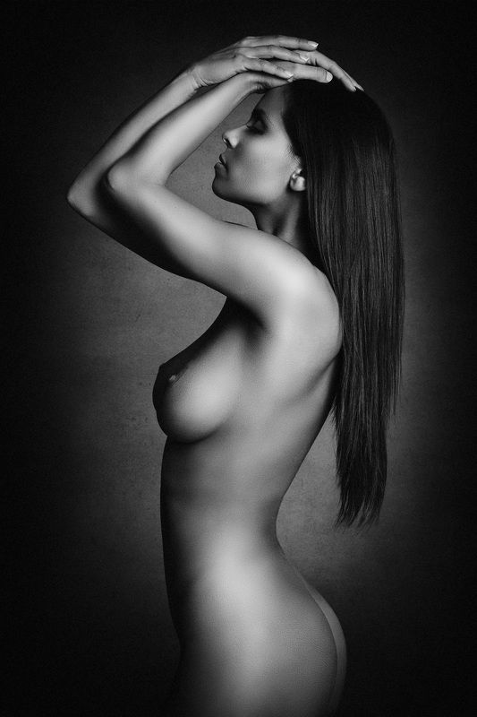 nude, studio, black and white, michael schnabl Juliettephoto preview
