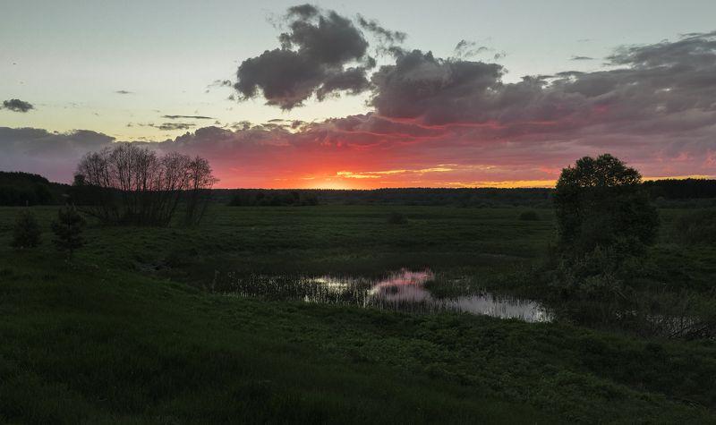 Тверь, Тверская область, Закат, поле ***photo preview