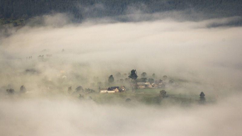 туман, утро, карпаты Островок...photo preview