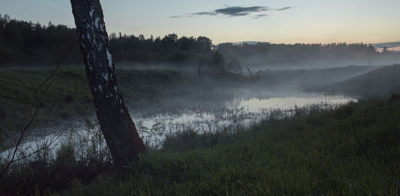 Тверь, Тверская область, Туман, Пейзаж, Россия, Вечер ***photo preview