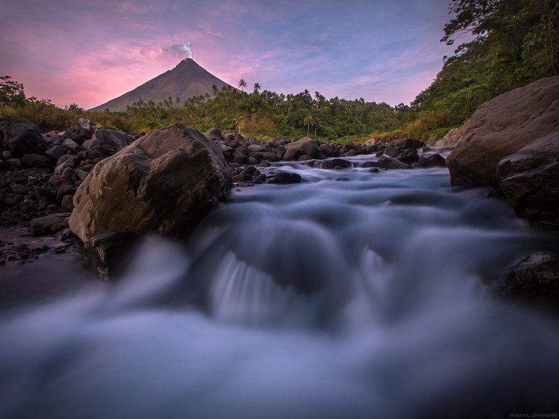 mayon, volcano, legaspi, philippines Теплая рекаphoto preview
