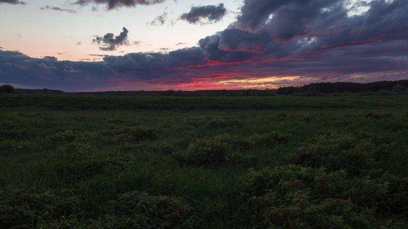 Тверь, Тверская область, Пейзаж, Россия, Вечер, Закат, Тучи ***photo preview