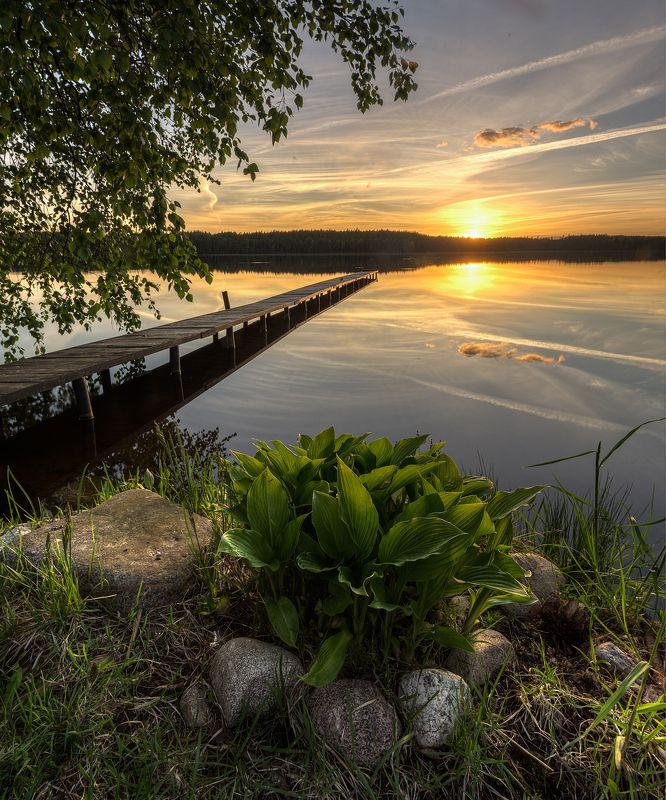 вечер озеро Майский вечерphoto preview