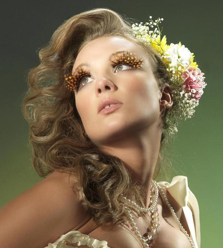 портрет, девушка, цветы \