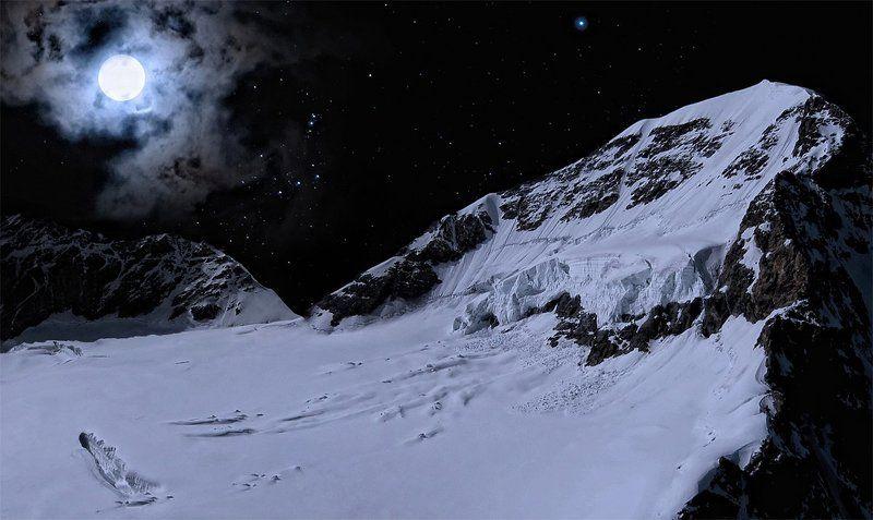 горы, луна, полнолуние Moonlightphoto preview