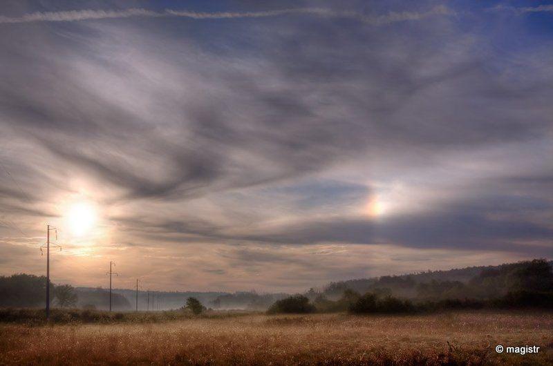 гало, явление природы, туман, рассвет Галоphoto preview
