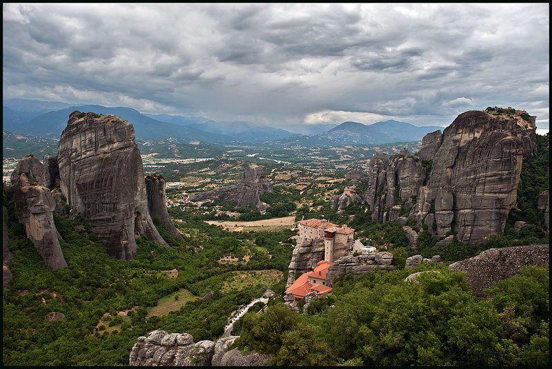 греция, метеоры, монастыри Метеоры, монастыри на скалах.photo preview
