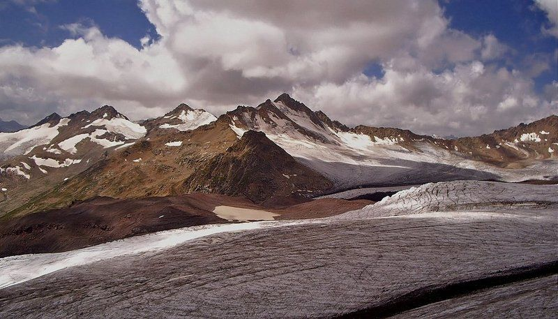 горы, пейзаж, кавказ,  небо, ледники, облака, снег, эльбрус Гора из тысячи гор...photo preview