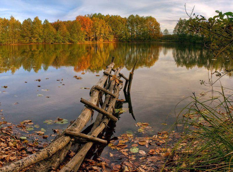 осень, озеро, пейзаж в гостях у осениphoto preview