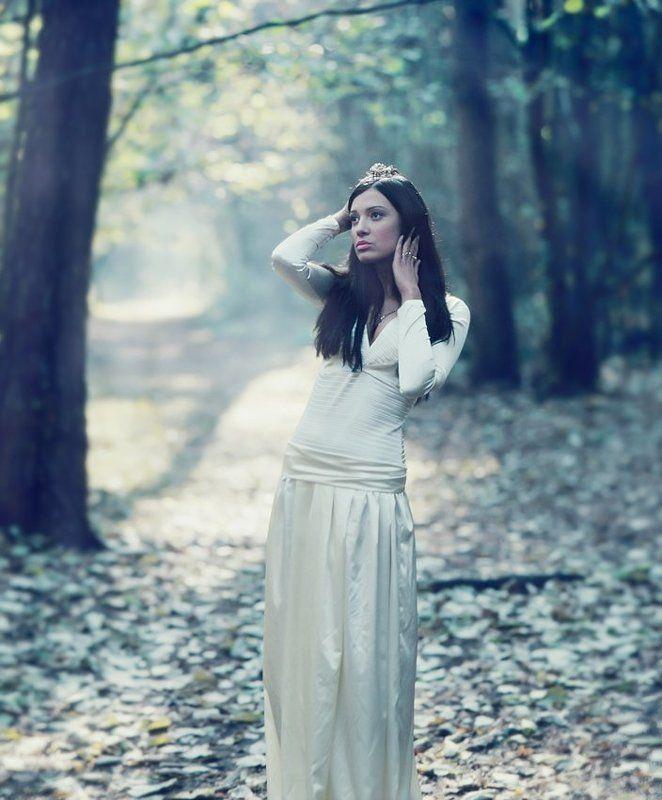 девушка, лес, осень ***photo preview