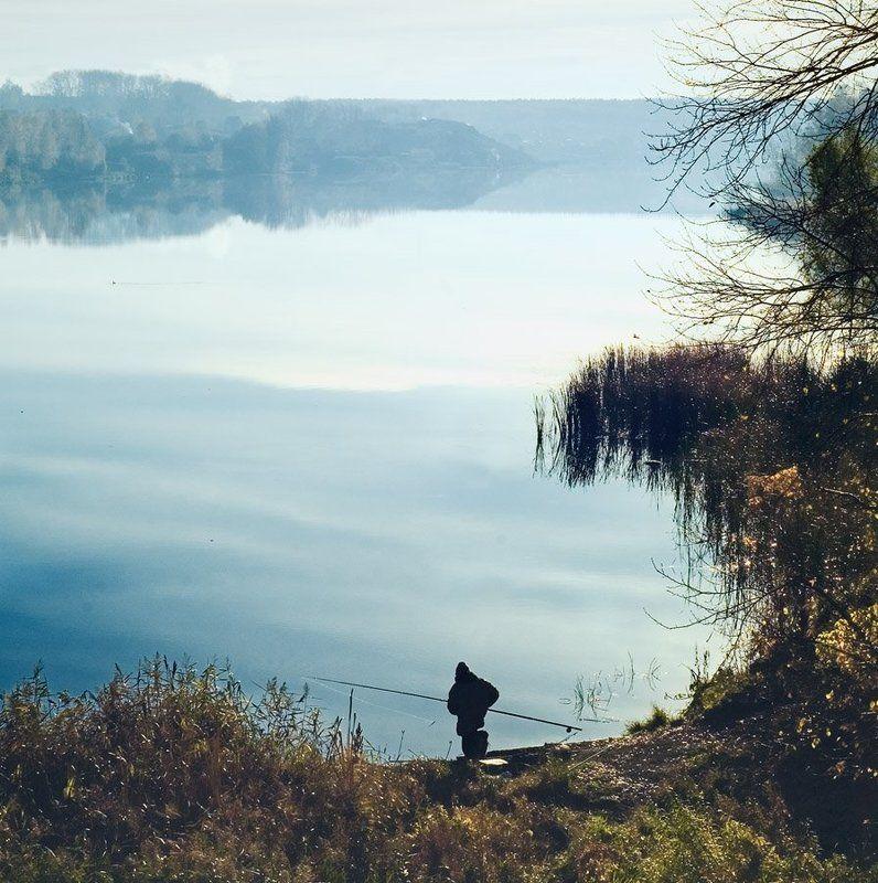 река, рыбалка, осень, утро ***photo preview