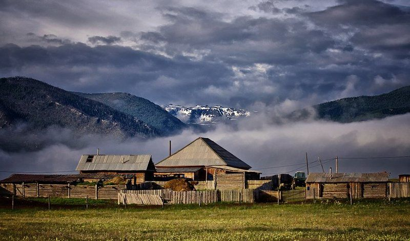 горный, алтай, джазатор, село, горы ***photo preview