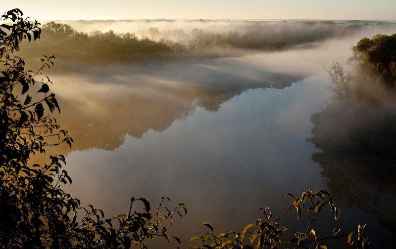 туман, река, утро, рассвет, хоперский заповедник. Утро на Хопреphoto preview