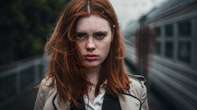 портрет, девушка, поезд Машаphoto preview