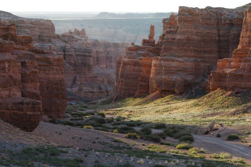 каньон, Казахстан, рассвет, горы, камень, лето Америка? Казахстан!photo preview