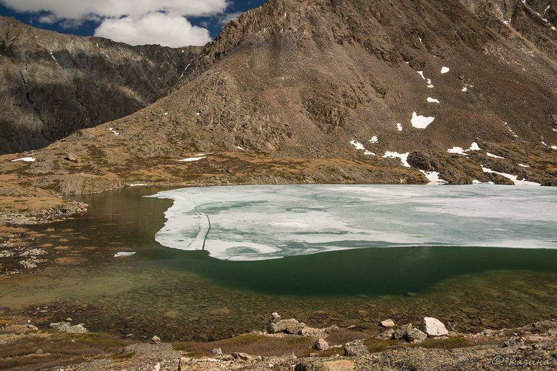 горы, чихачёва, алтай, горный алтай, озеро, лето Левитация озёрного льдаphoto preview
