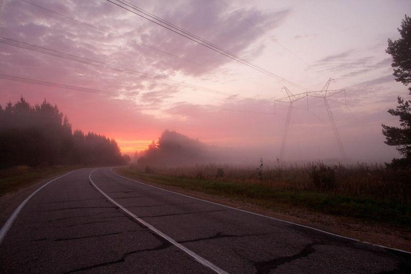 пейзаж тверь туман россиия путешествия болото Тверьphoto preview