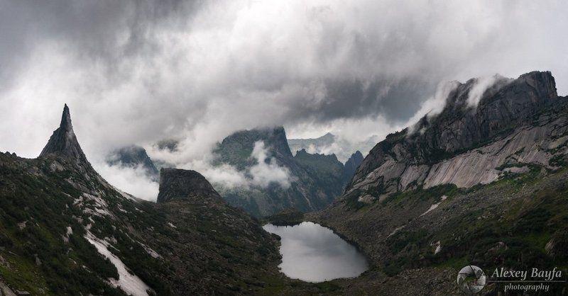 озеро, горы, вода, панорама, лето, лес, природа, облака В гостях у горных духовphoto preview