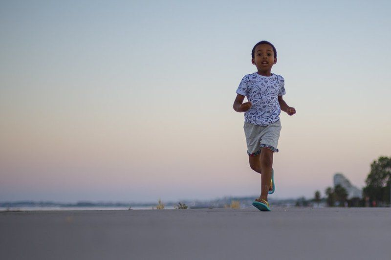 boy, kid, running, france, sunset, summer, evening photo preview