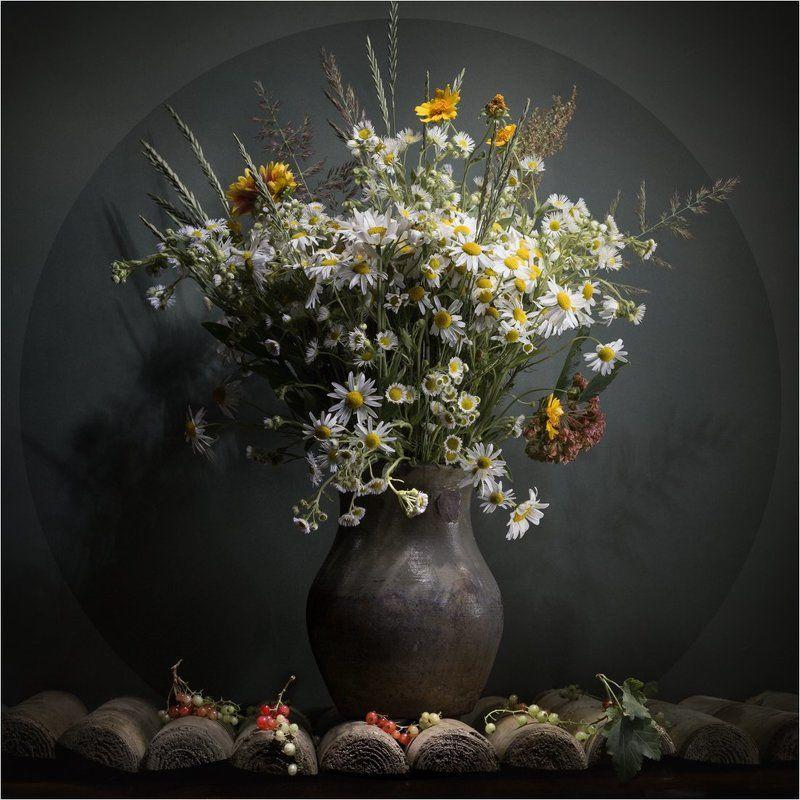 лето, натюрморт, ромашки, цветы Цветы лета. Ромашкиphoto preview