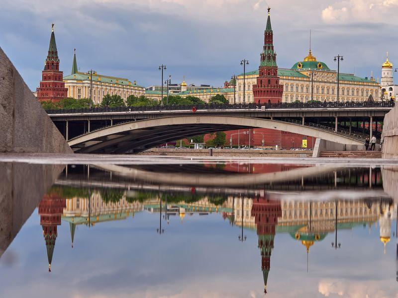 город, пейзаж, вода, архитектура, отражение, кремль Москваphoto preview