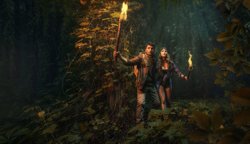 сокровища, поиски, искатели, авантюристы, путешественники, факел, лес, темный, лианы, джунгли, вестерн, квест, волгоград, волгоградская область Искатели сокровищ: Бобруйские джунглиphoto preview