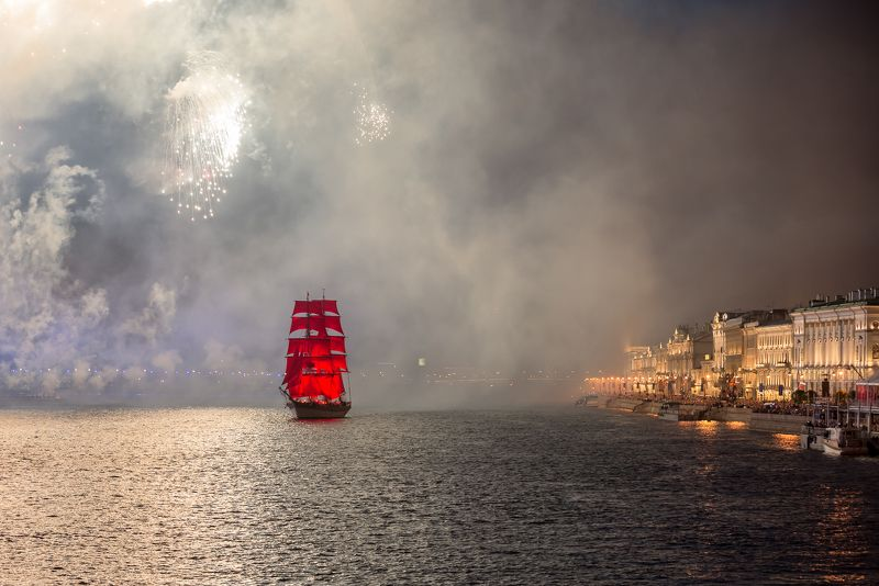 алые паруса фрегат праздник санкт-петербург нева Из дальних странствий возвращаясь...photo preview