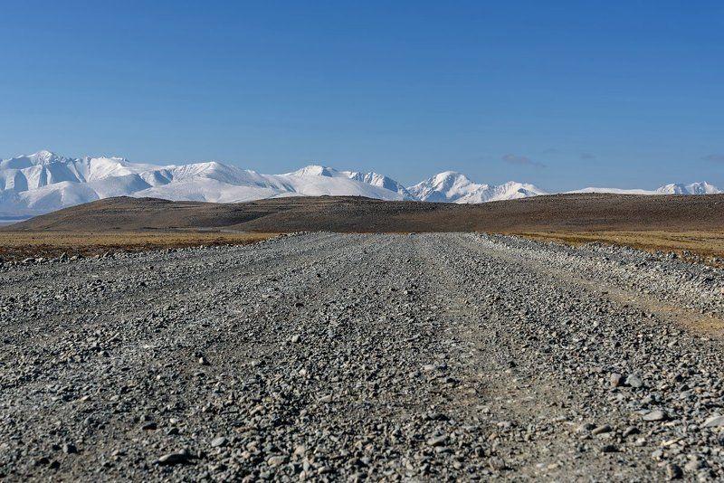 алтай, дорога, горы, степь, altai, road, mountains, steppe Дорога в горыphoto preview