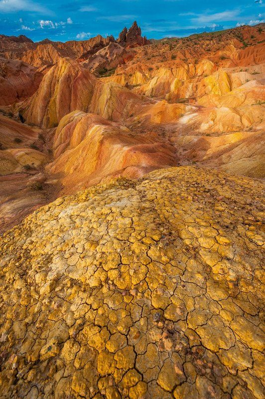 киргизия, пейзаж, азия, средняя азия, пустыня, каньон Золото Киргизииphoto preview