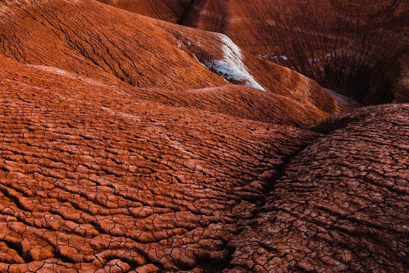 Казахстан, земля, красный, закат, холм, засуха Red Wavesphoto preview