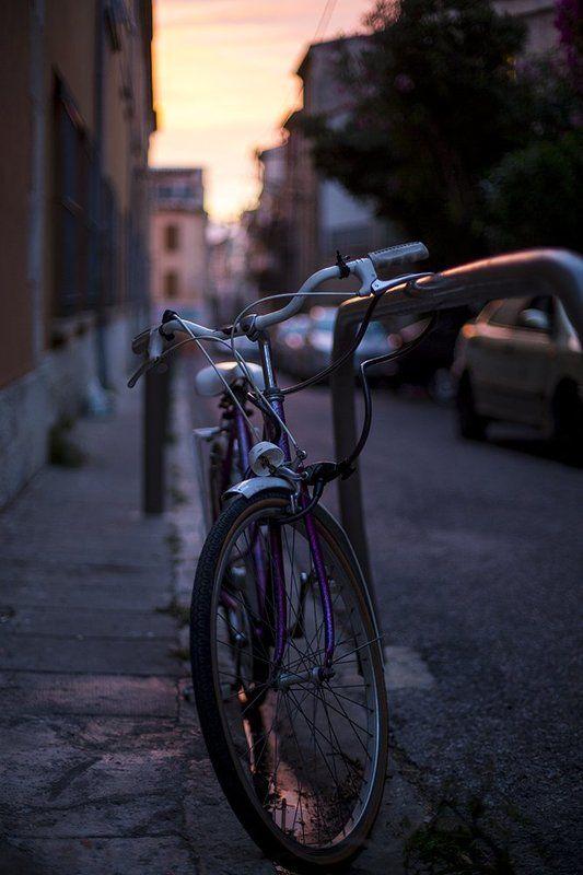 france, antibes, evening, sunset, bike, франция, антиб, велосипед, вечер, закат Eveningphoto preview