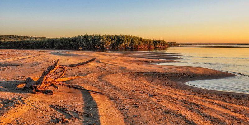 обь, река в свете закатаphoto preview