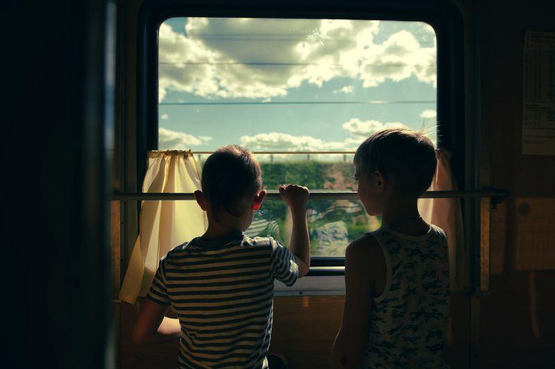 поезд, детская фотография В поездеphoto preview